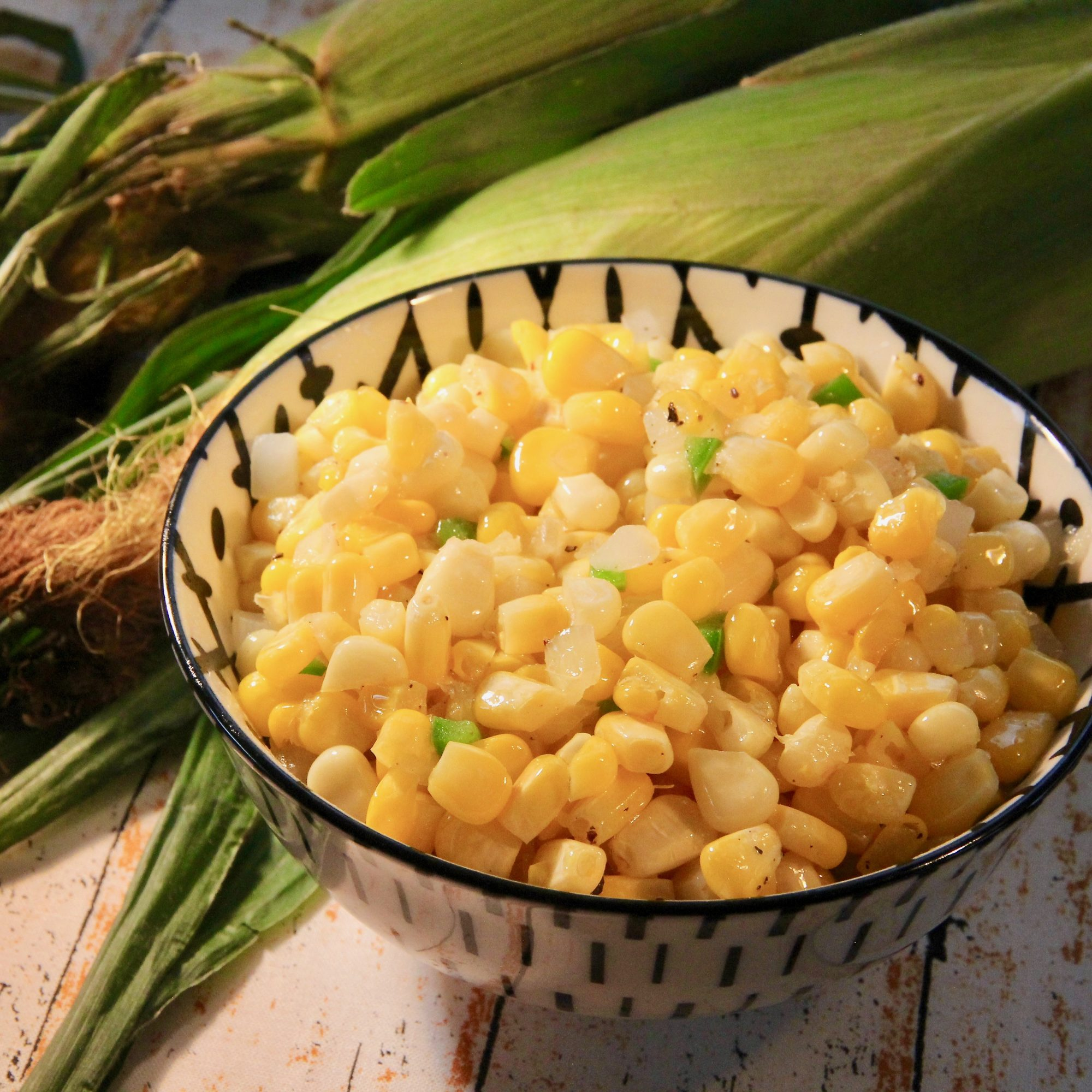 bowl of corn