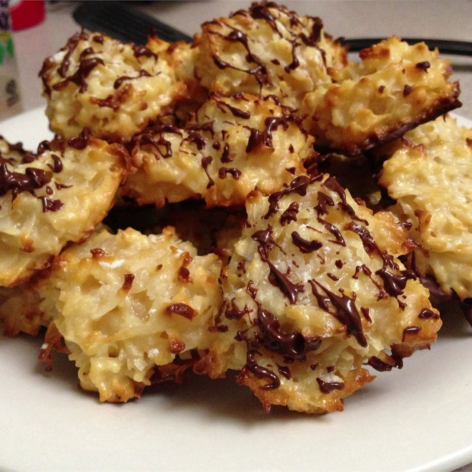 Coconut Macaroons on a white plate