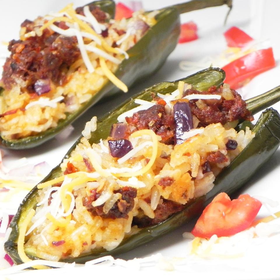 Chroizo Stuffed Poblano Peppers