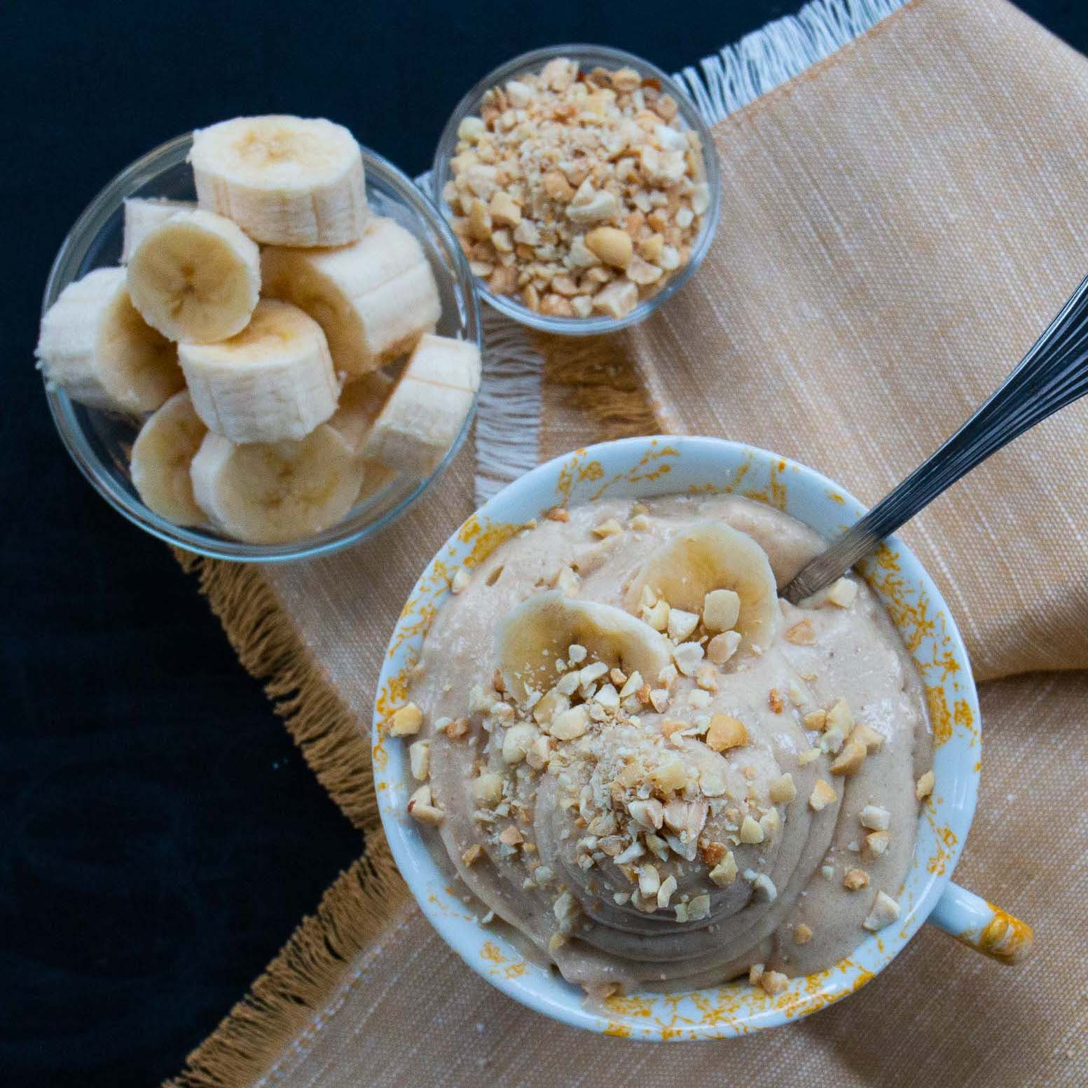 Banana and Peanut Butter 4-Ingredient 'Ice Cream'