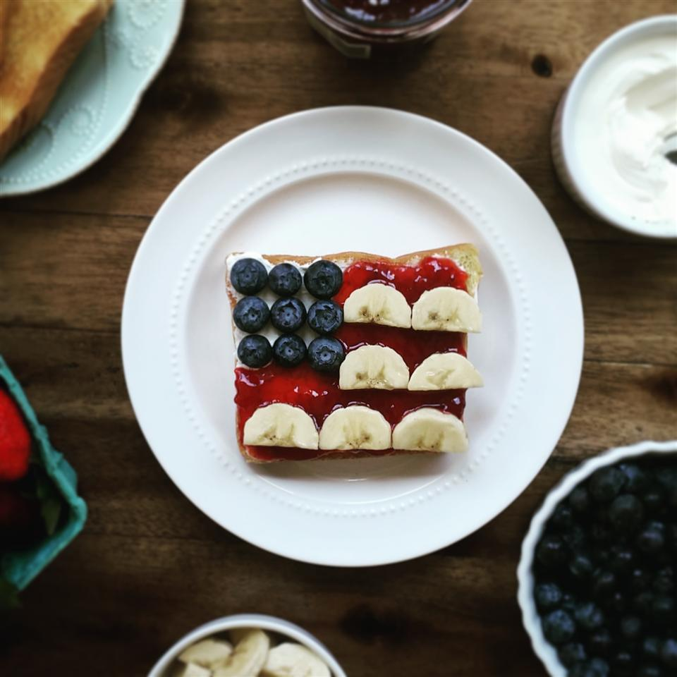 Red, White, and Blue Flag Toast