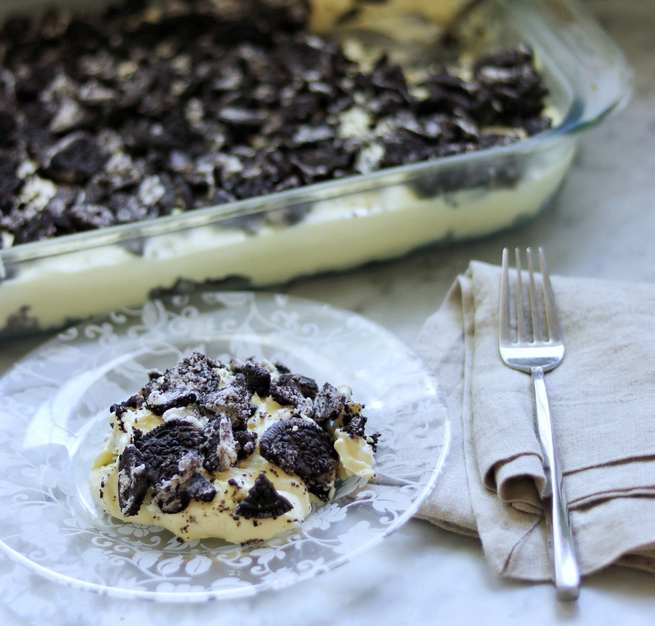 Oreo Cookies and Cream Dessert