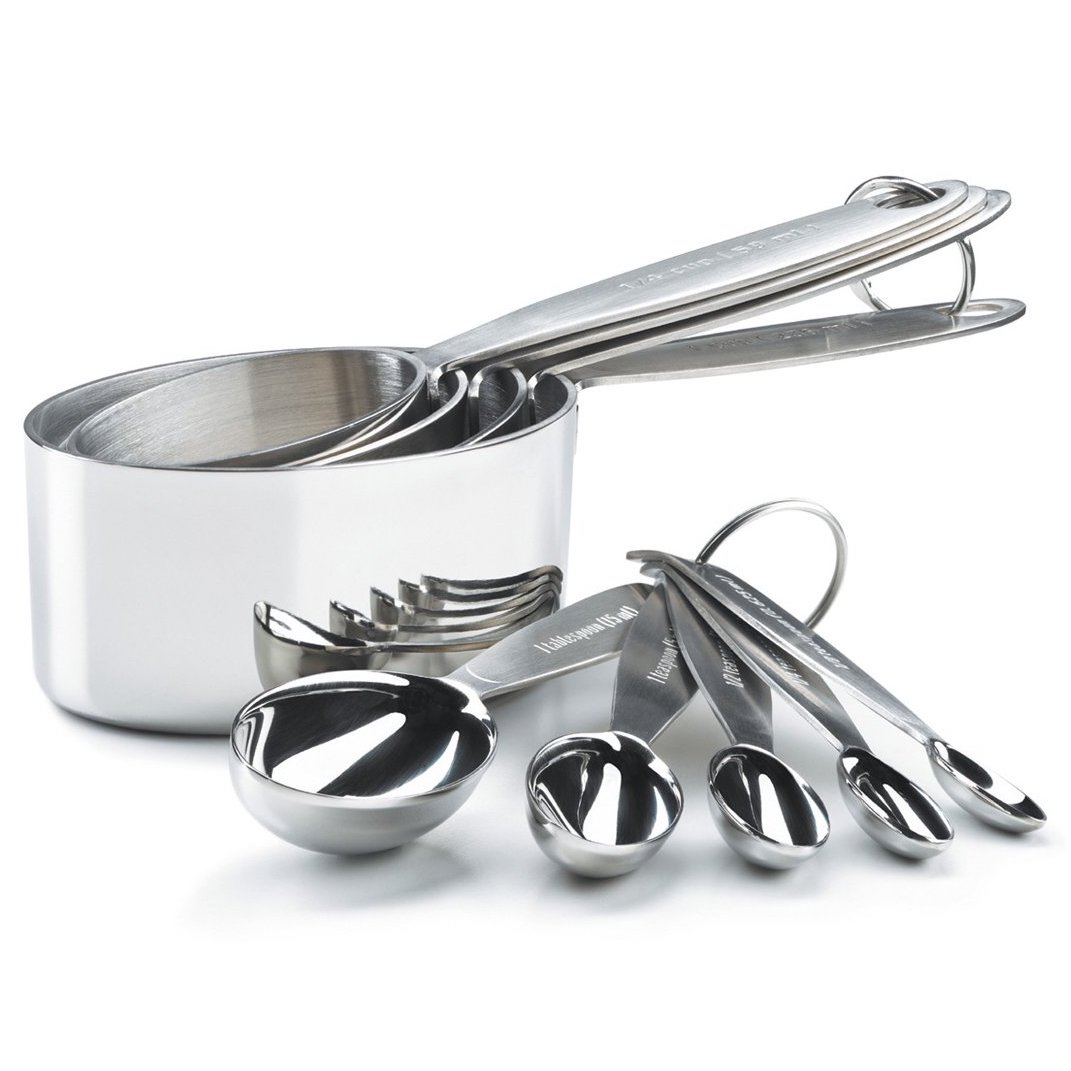 Cuisipro Stainless Steel Measuring Cups and Spoons Set