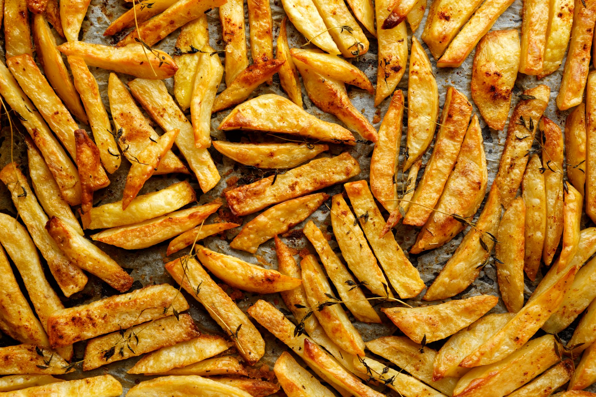 French fries with addition herbs