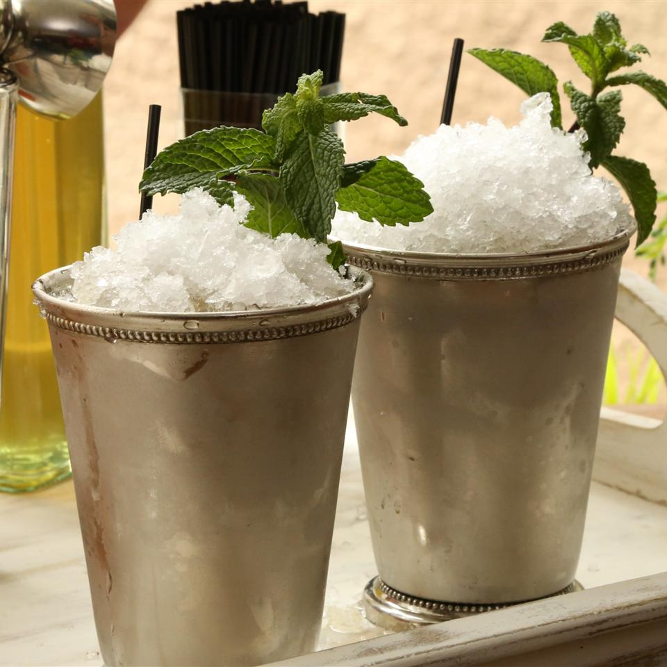 Mint Juleps in silver cups