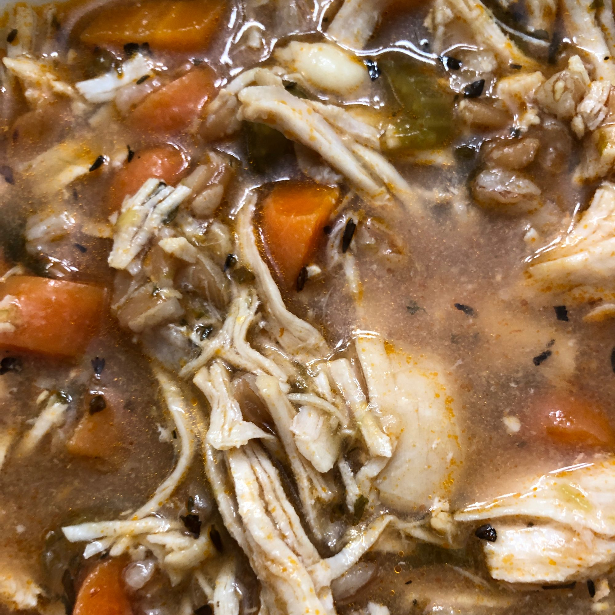 Instant Pot Chicken and Farro Soup