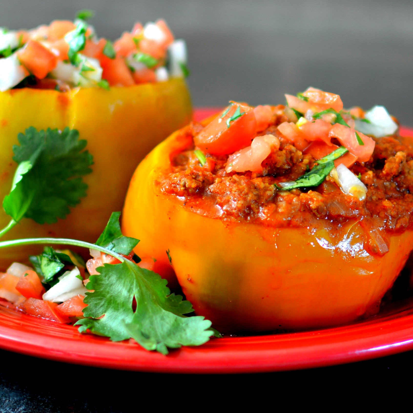 Instant Pot Beef-Stuffed Peppers