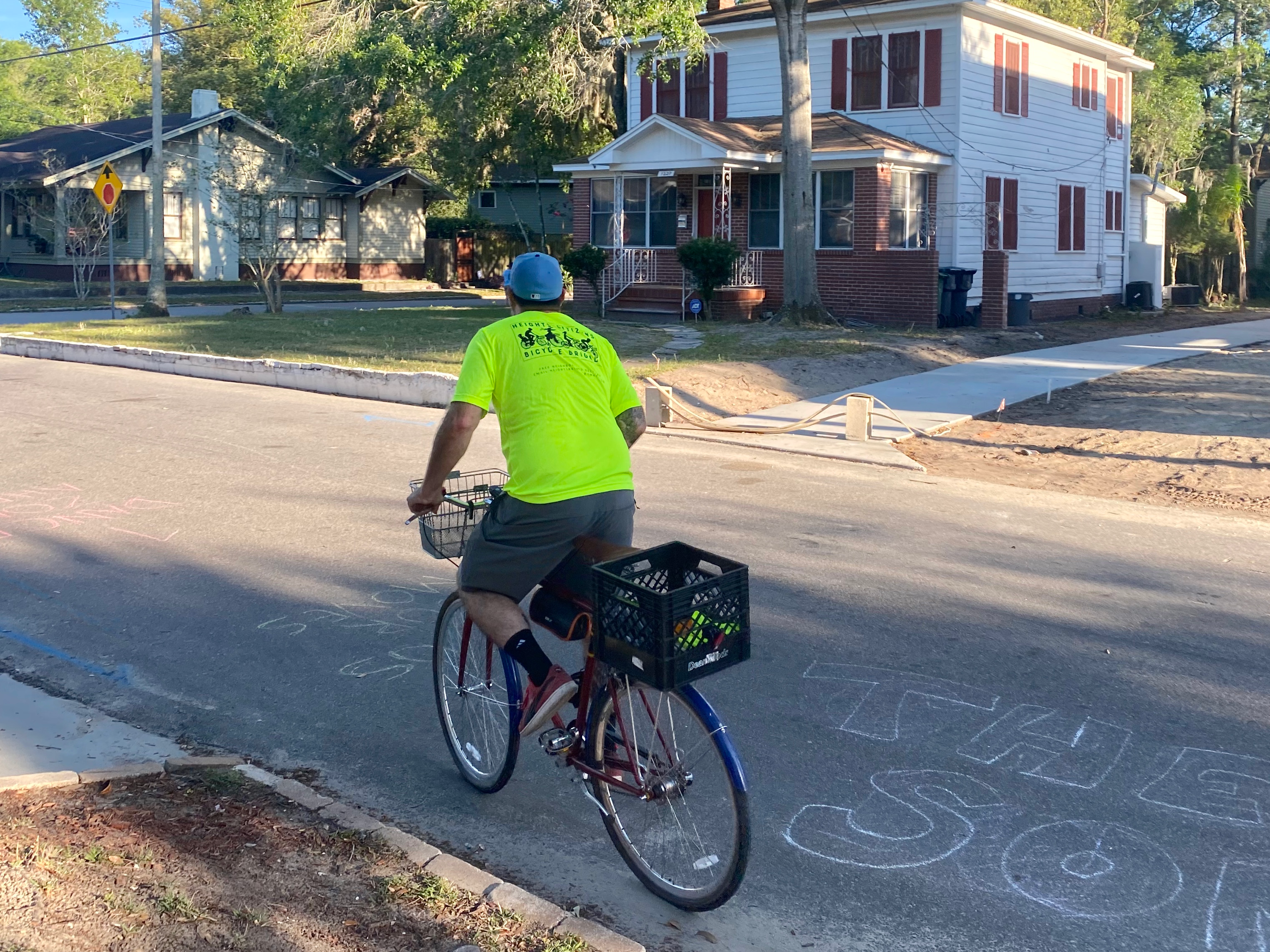An HCBB volunteer making a delivery