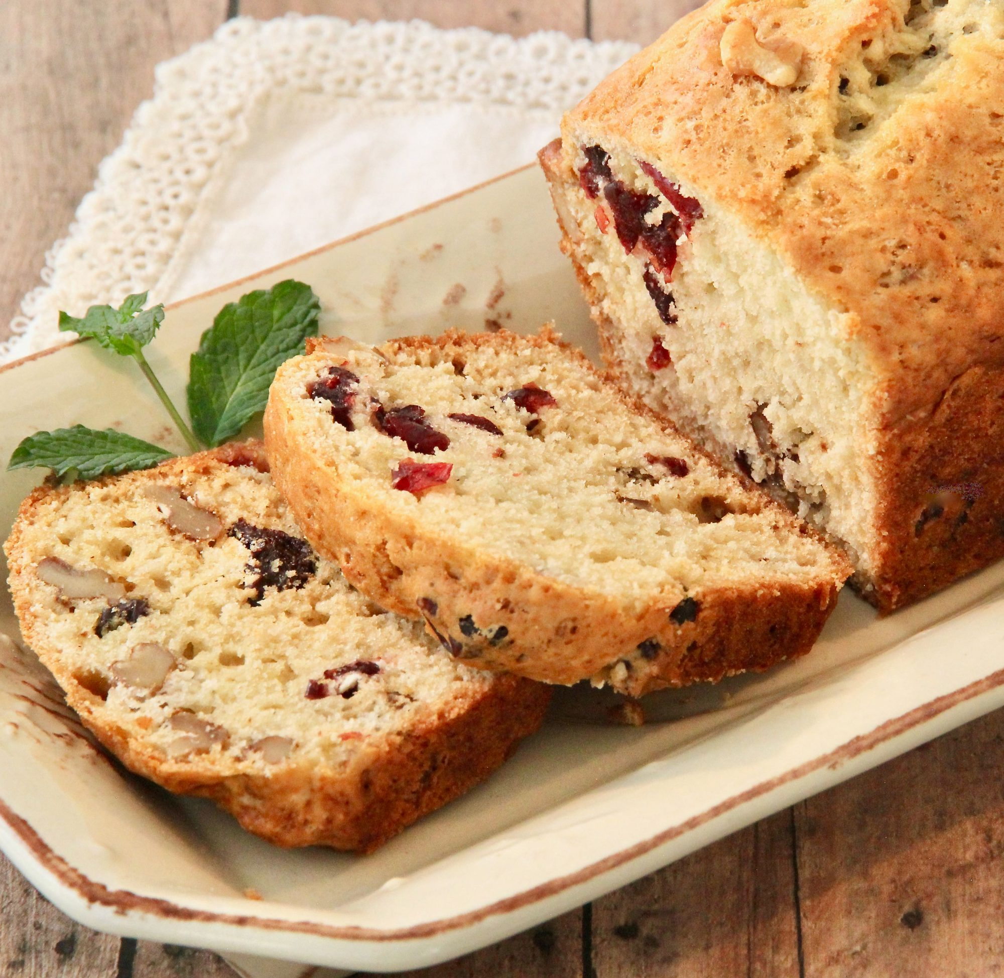 Apple Cider-Cranberry Bread
