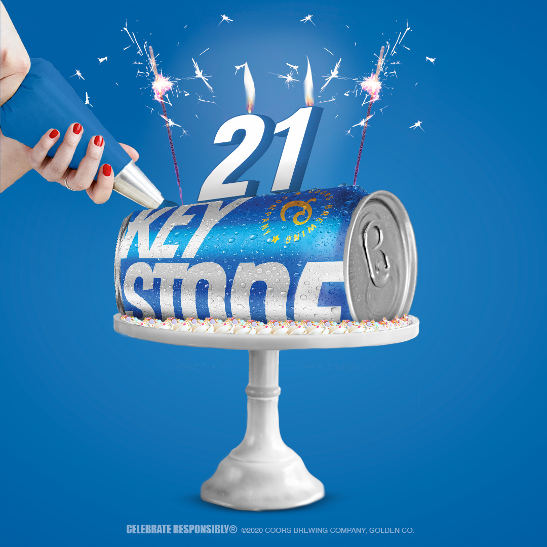 Stupendous Keystone Light Sending Beer Cakes To People Celebrating 21St Personalised Birthday Cards Paralily Jamesorg