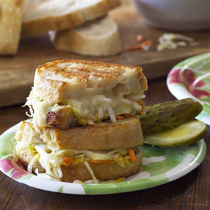 Grilled Cheese and Veggie Sandwich