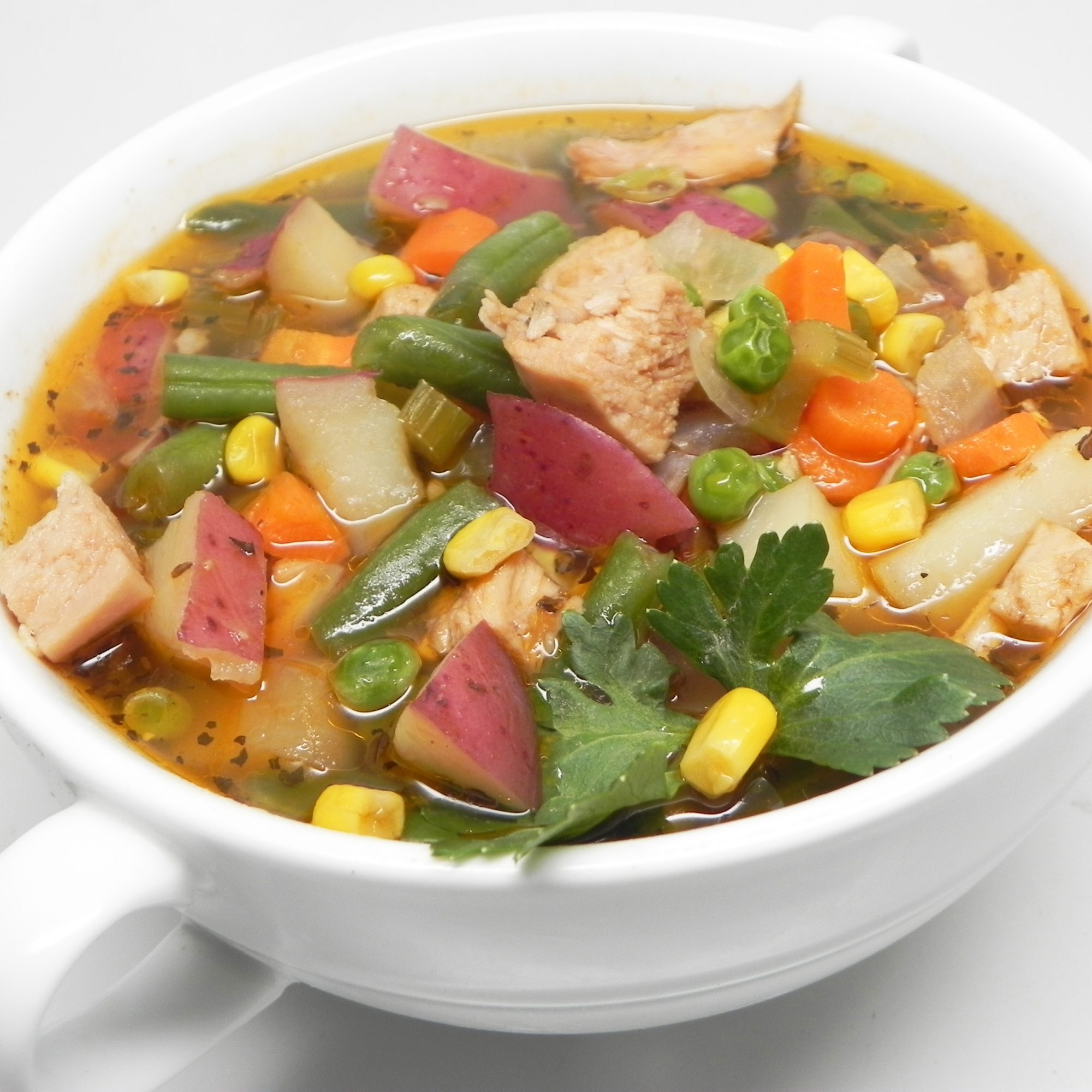 Turkey Vegetable Soup with Red Potatoes