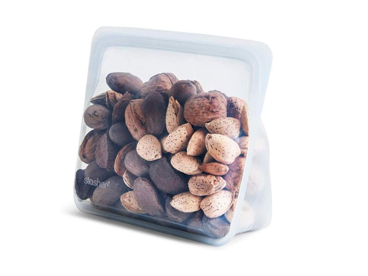 Stasher bag with nuts inside