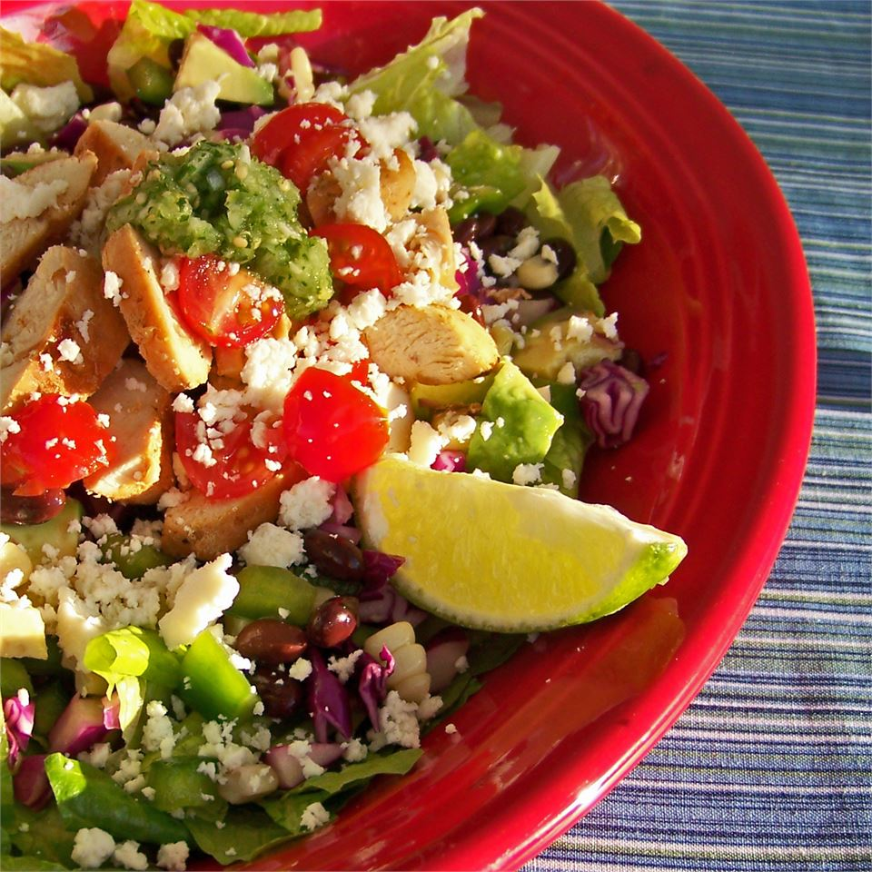 Spicy Southwest Chopped Salad with Salsa Verde