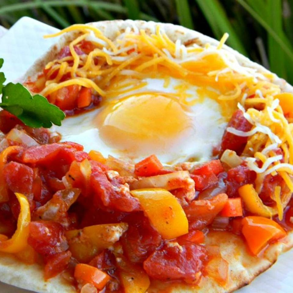 Chef John's Shakshuka with shredded cheese