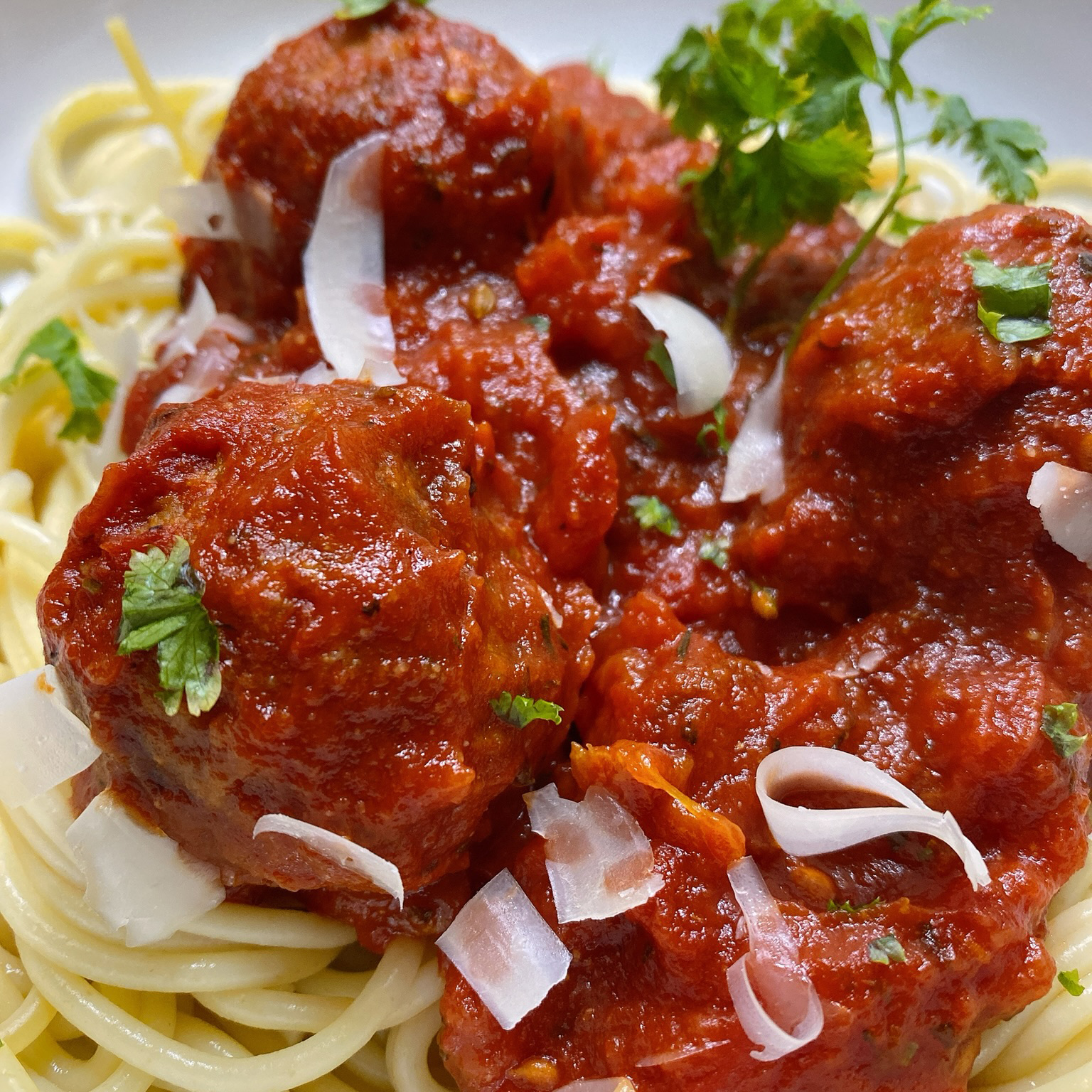 Spaghetti and Meatless Meatballs
