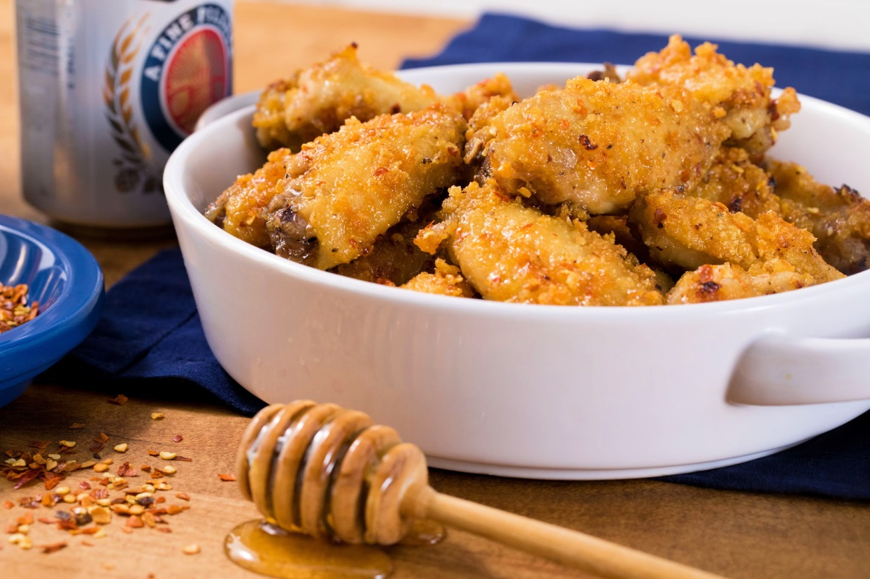 Super Crunch Oven Baked Honey Dipped Wings