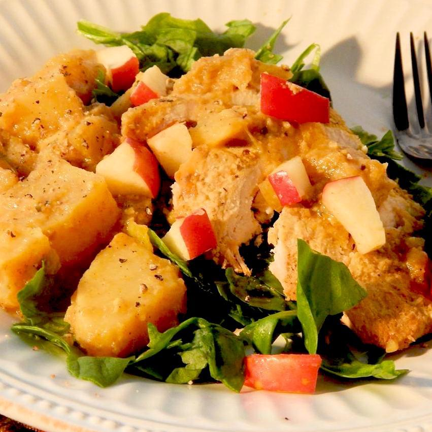 Paleo Chicken with Apple and Sweet Potato