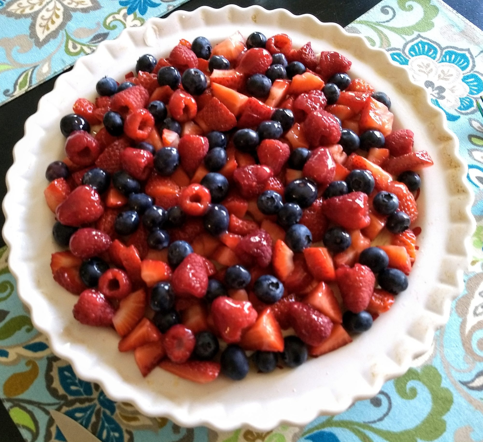 White Chocolate-Cream Cheese Fruit Tart