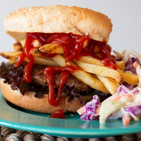French fry burger