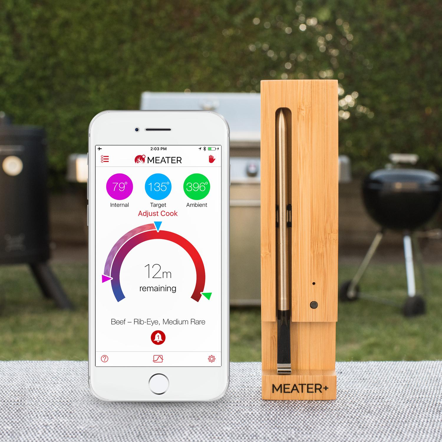MEATER+ Extended Range Wireless Bluetooth Smart Meat Thermometer
