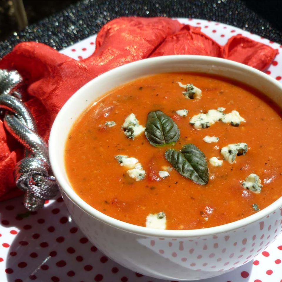Cream of Tomato Gorgonzola Soup