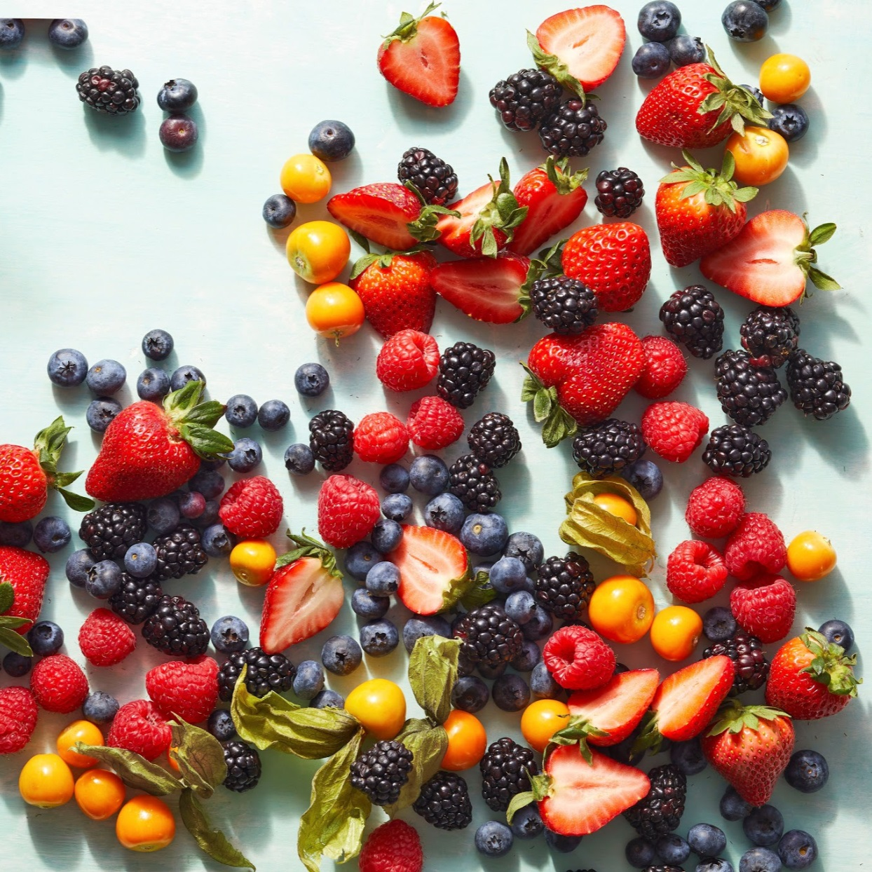 A variety of fresh summer berries