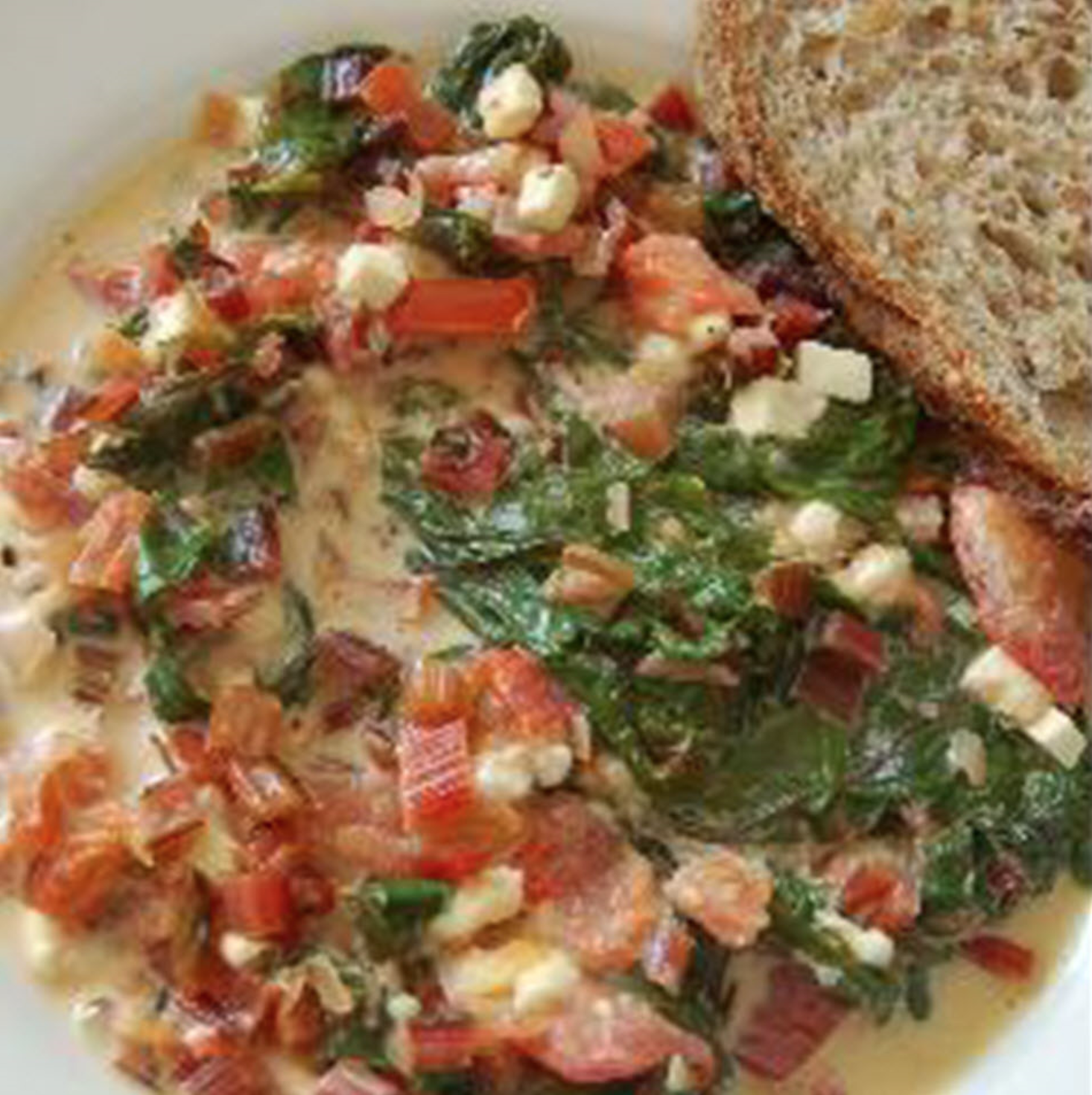 Red Chard with Feta and Tomatoes