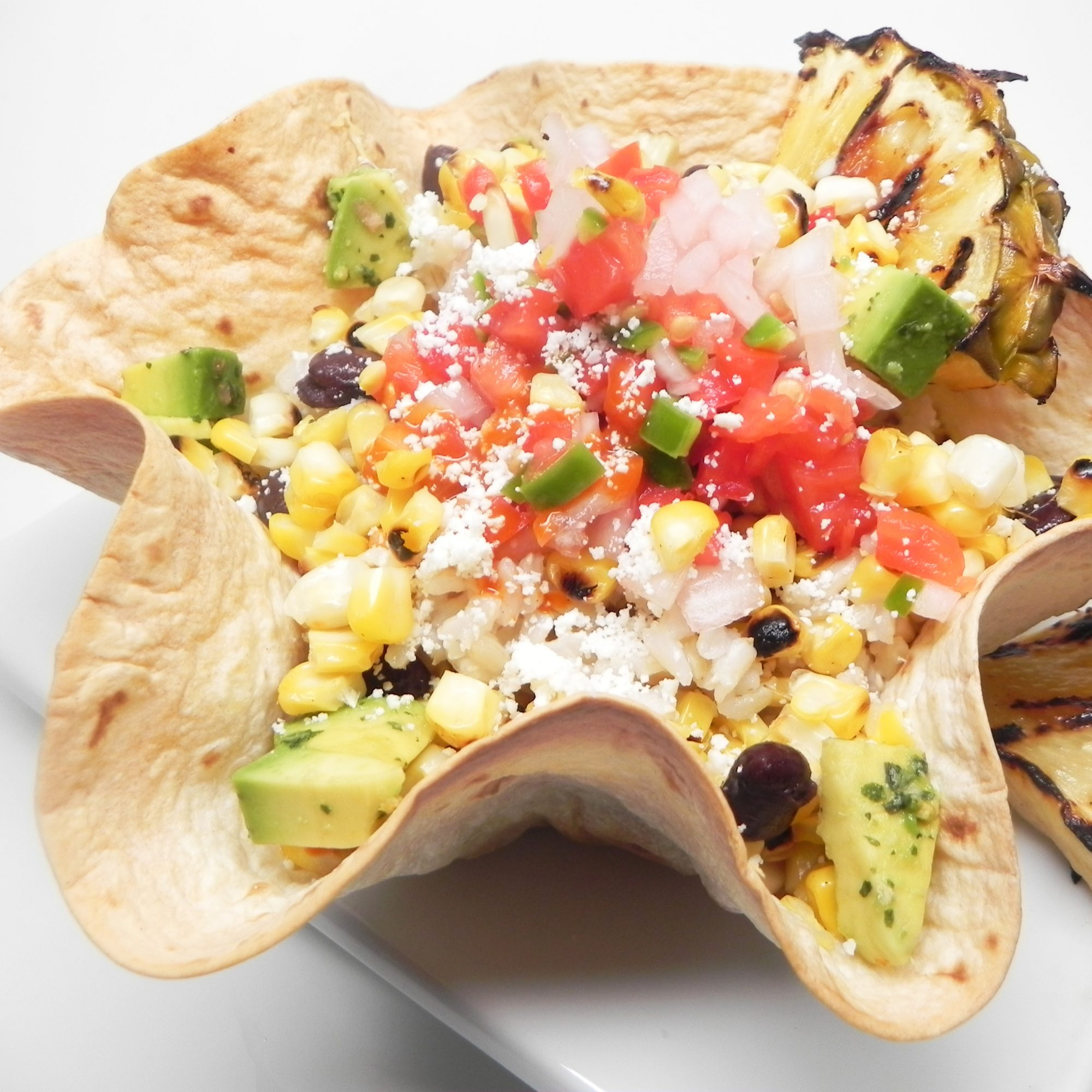 Elote Bowl with Grilled Pineapple