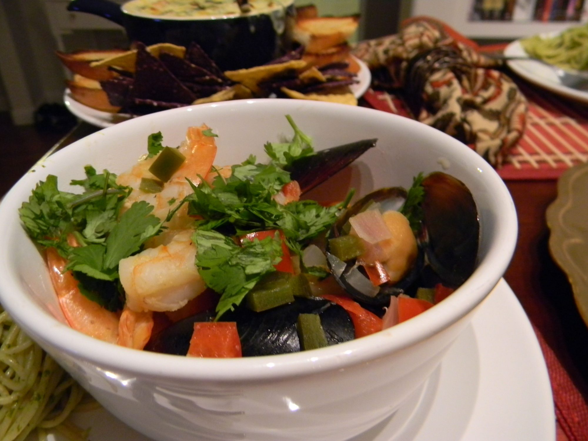 """Tequila and lime juice steam these boozy mussels, flavored with fresh bells pepper, jalapenos, and cilantro. """"Quick and easy to make with stuff we had on hand including jalapeños,"""" says mainered. """"This recipe is better than most restaurants. Didn't change a thing!"""""""