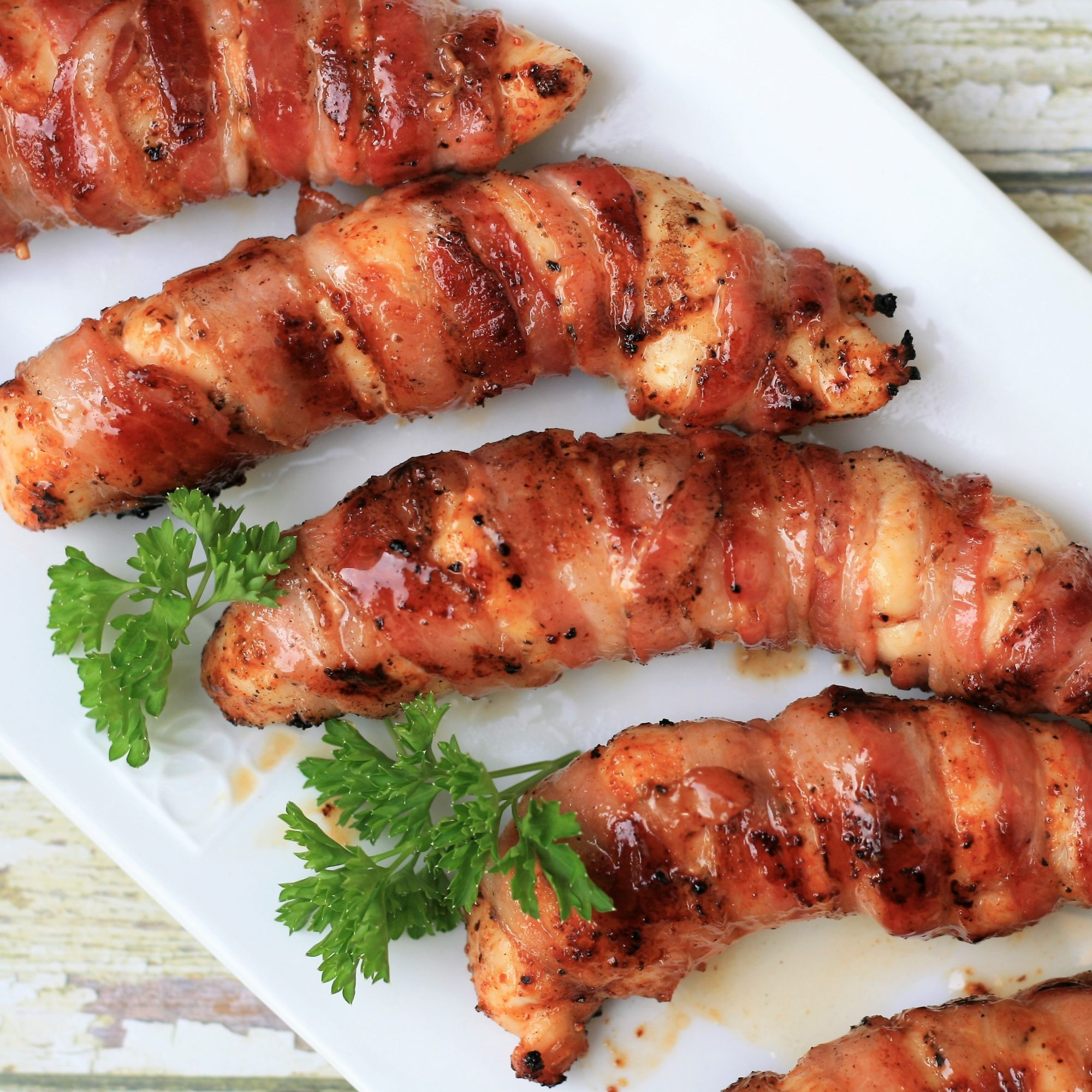 Grilled Bacon-Wrapped Chicken Tenders