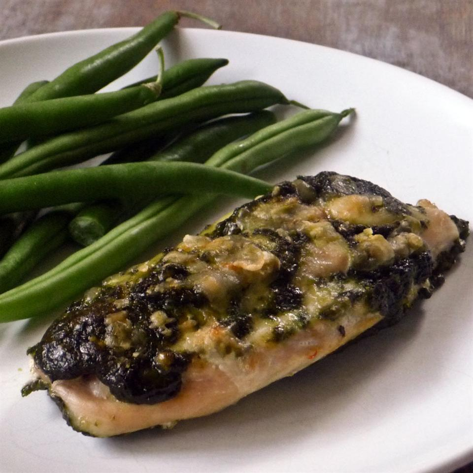 Spinach Pesto Chicken Breasts