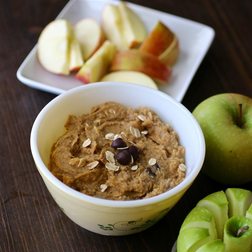 Faux Cookie Dough Dip with apples
