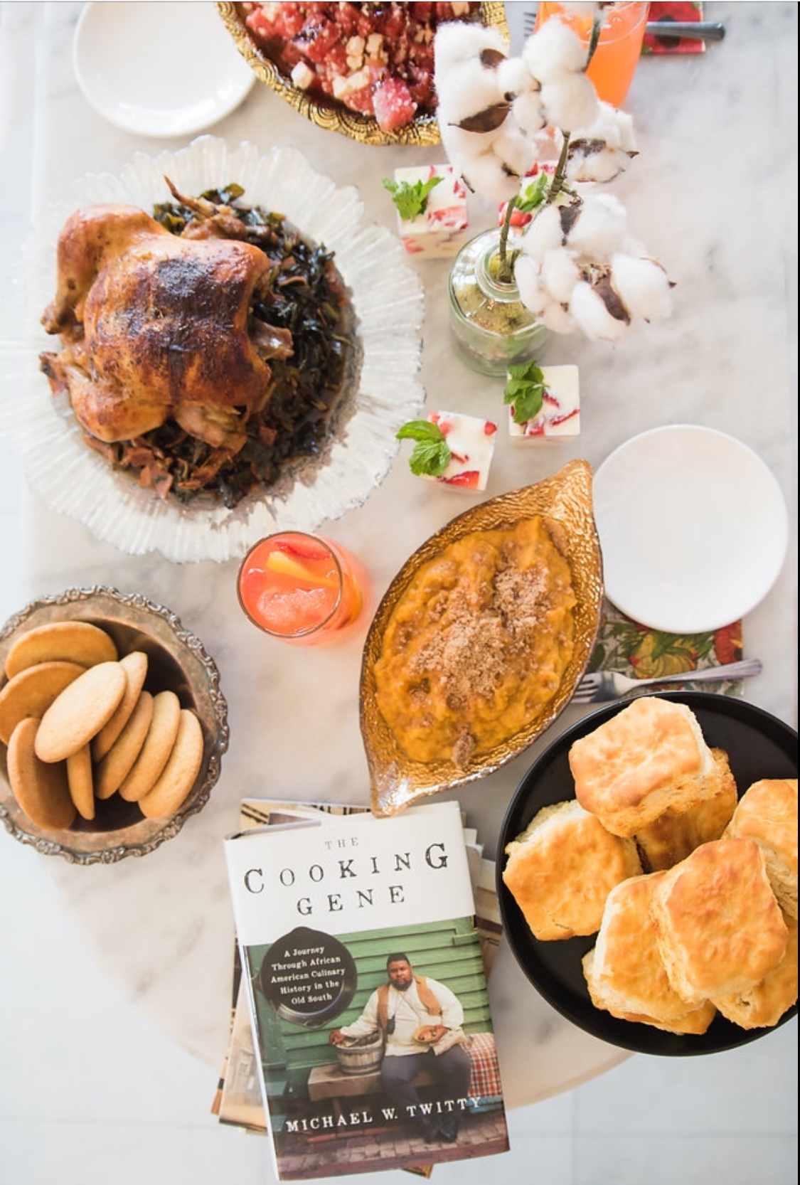 juneteenth recipes on table with book