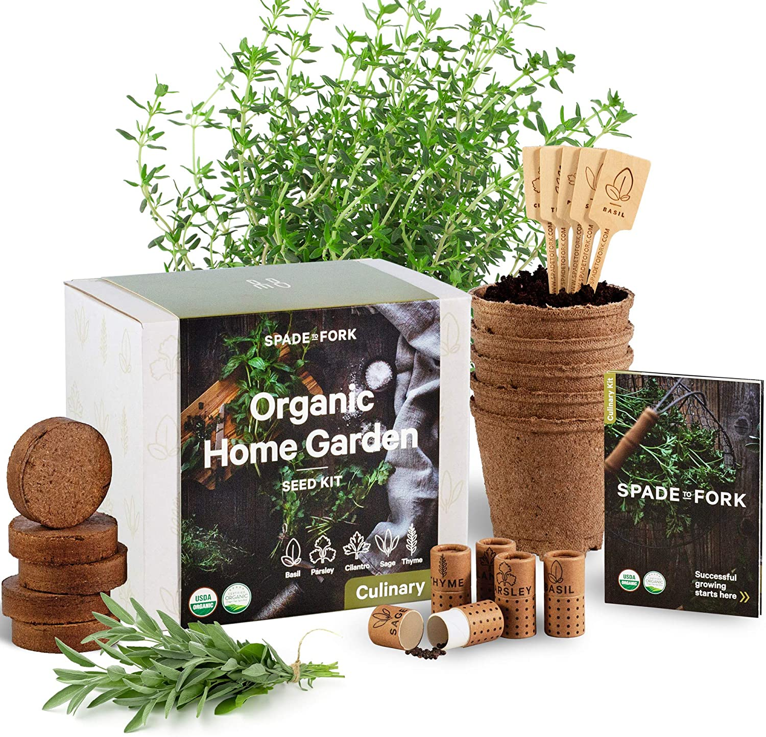 Spade to Fork Organic Home Garden Seed Kit