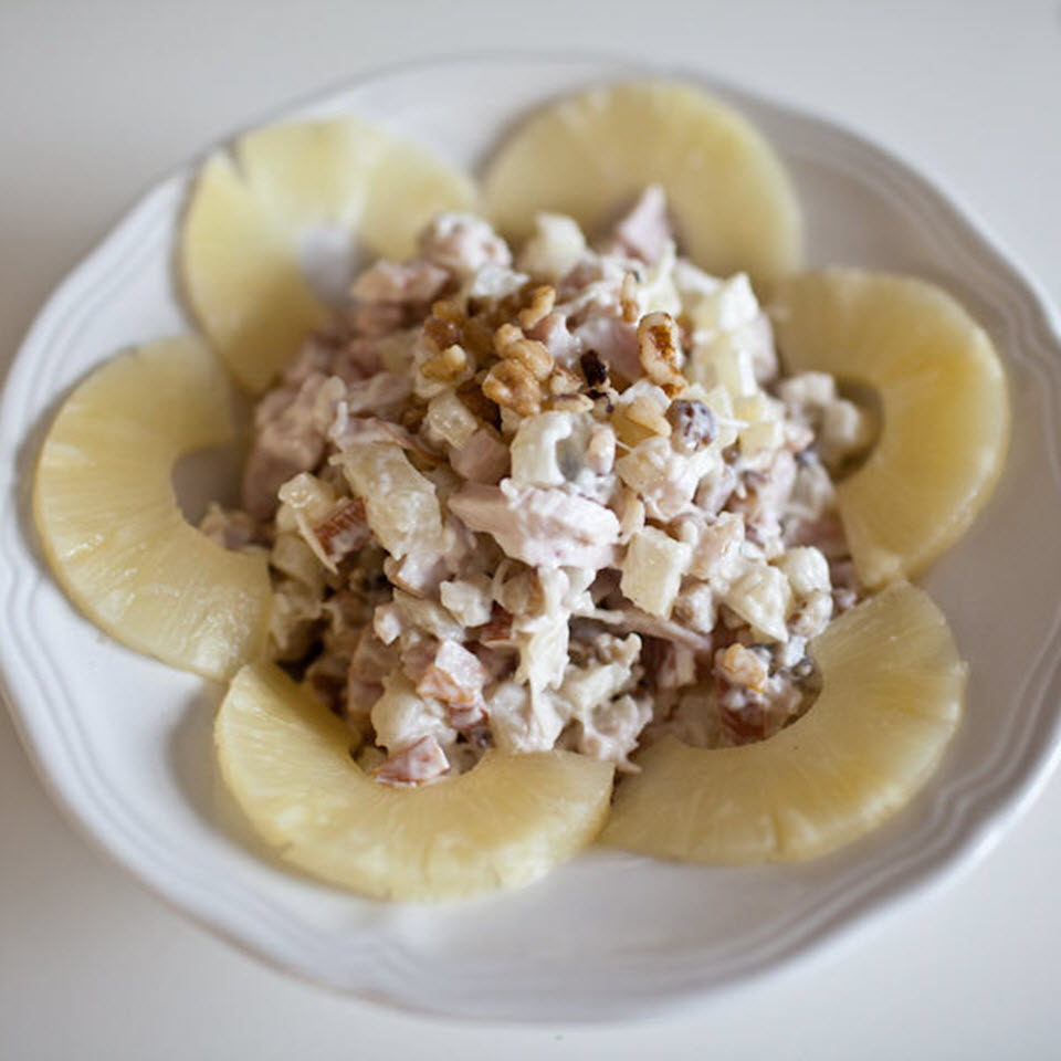 Russian Chicken and Pineapple Salad