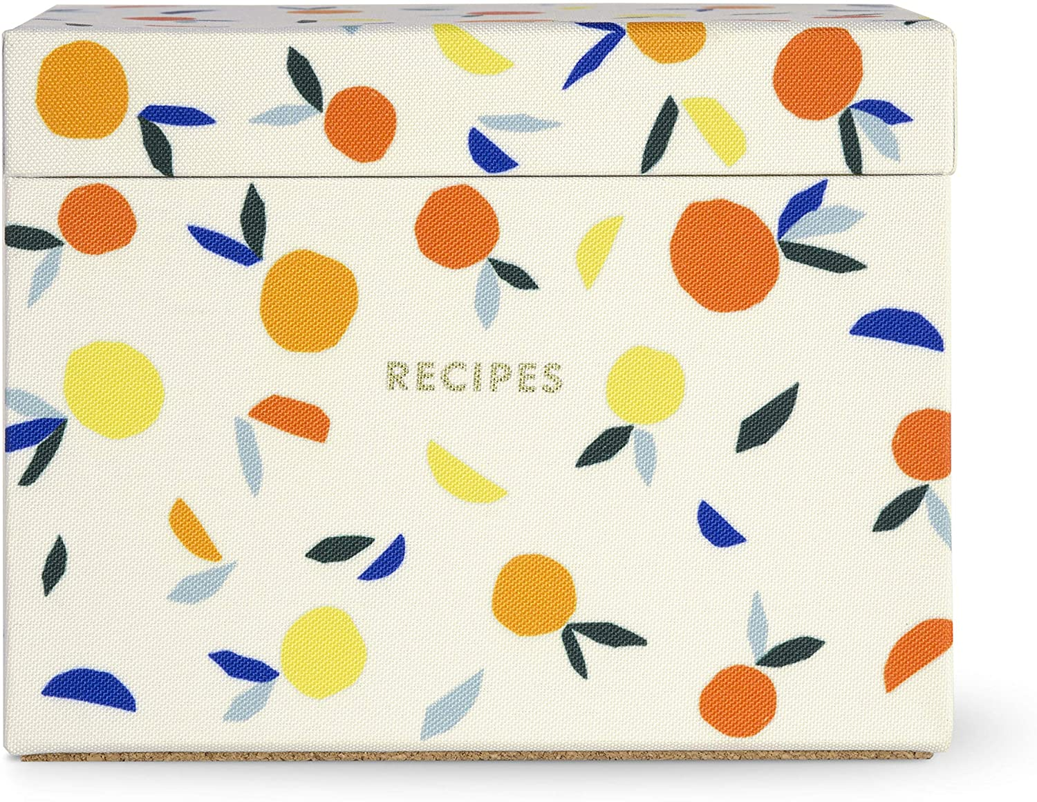 Kate Spade New York Recipe Box with 40 Double Sided Recipe Cards