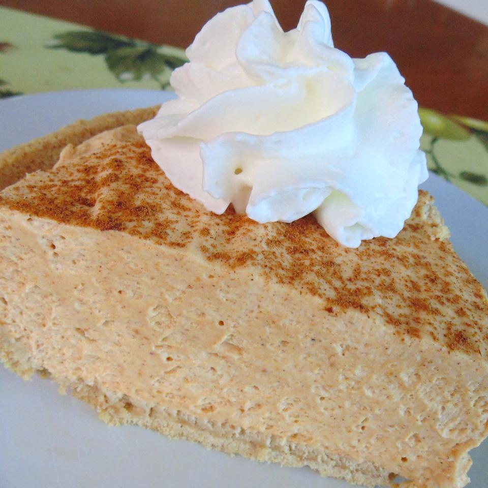 """My husband doesn't like traditional pumpkin pie but loves this recipe I came up with,"" wrote recipe contirbutor luvtobake. ""The cream cheese adds a wonderful flavor with a traditional pie taste but light/whipped."""