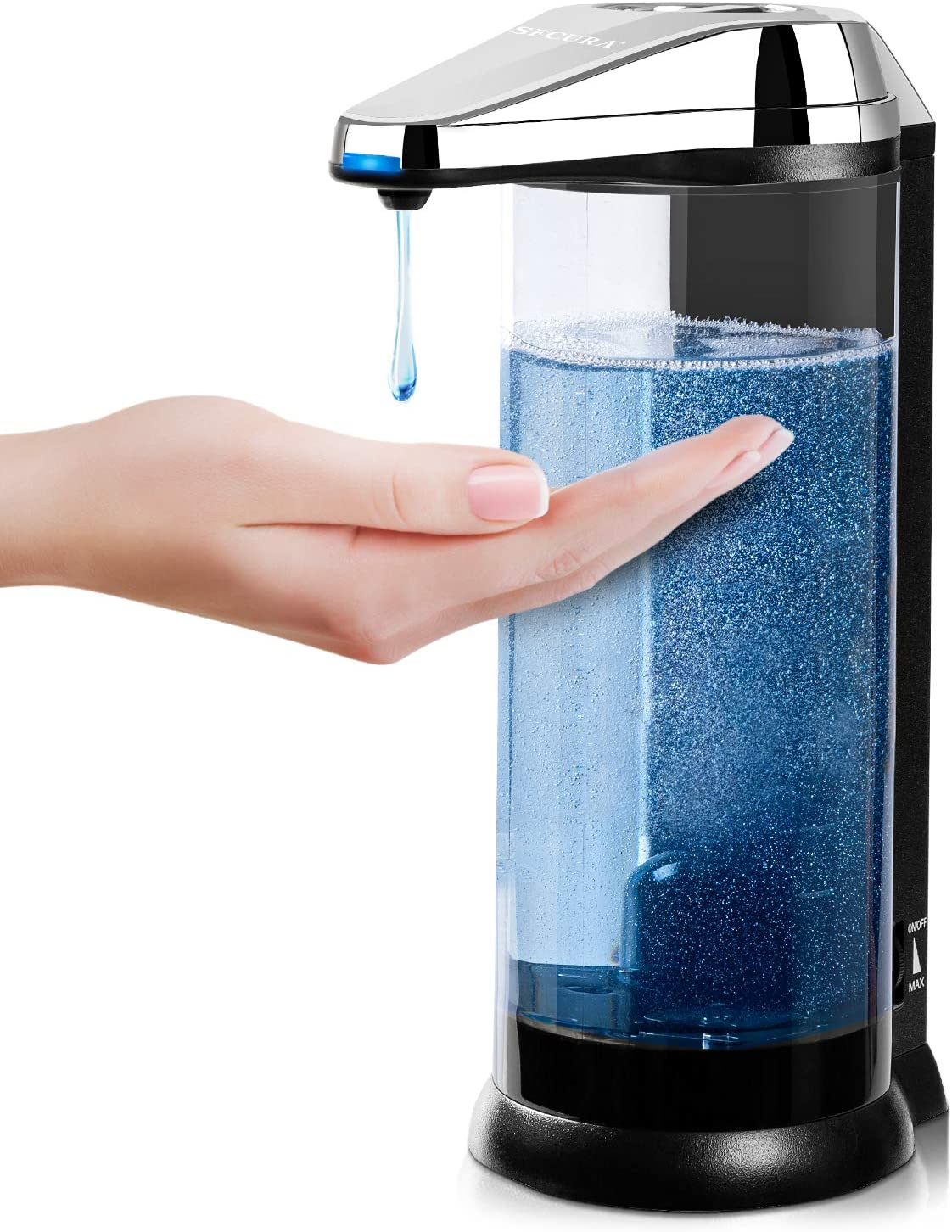 Secura Premium Touchless Battery Operated Electric Automatic Soap Dispenser
