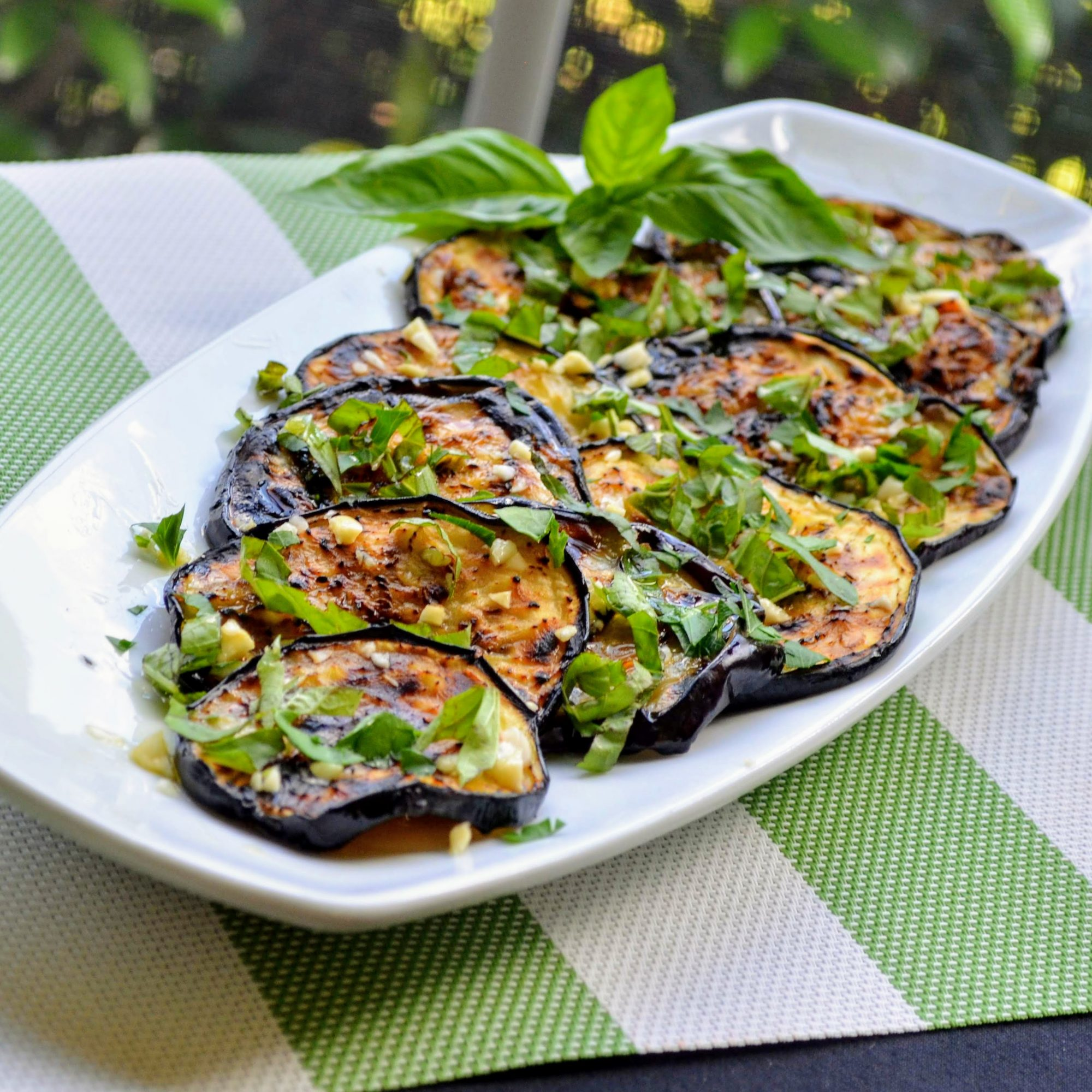 Italian Grilled Eggplant with Basil and Parsley