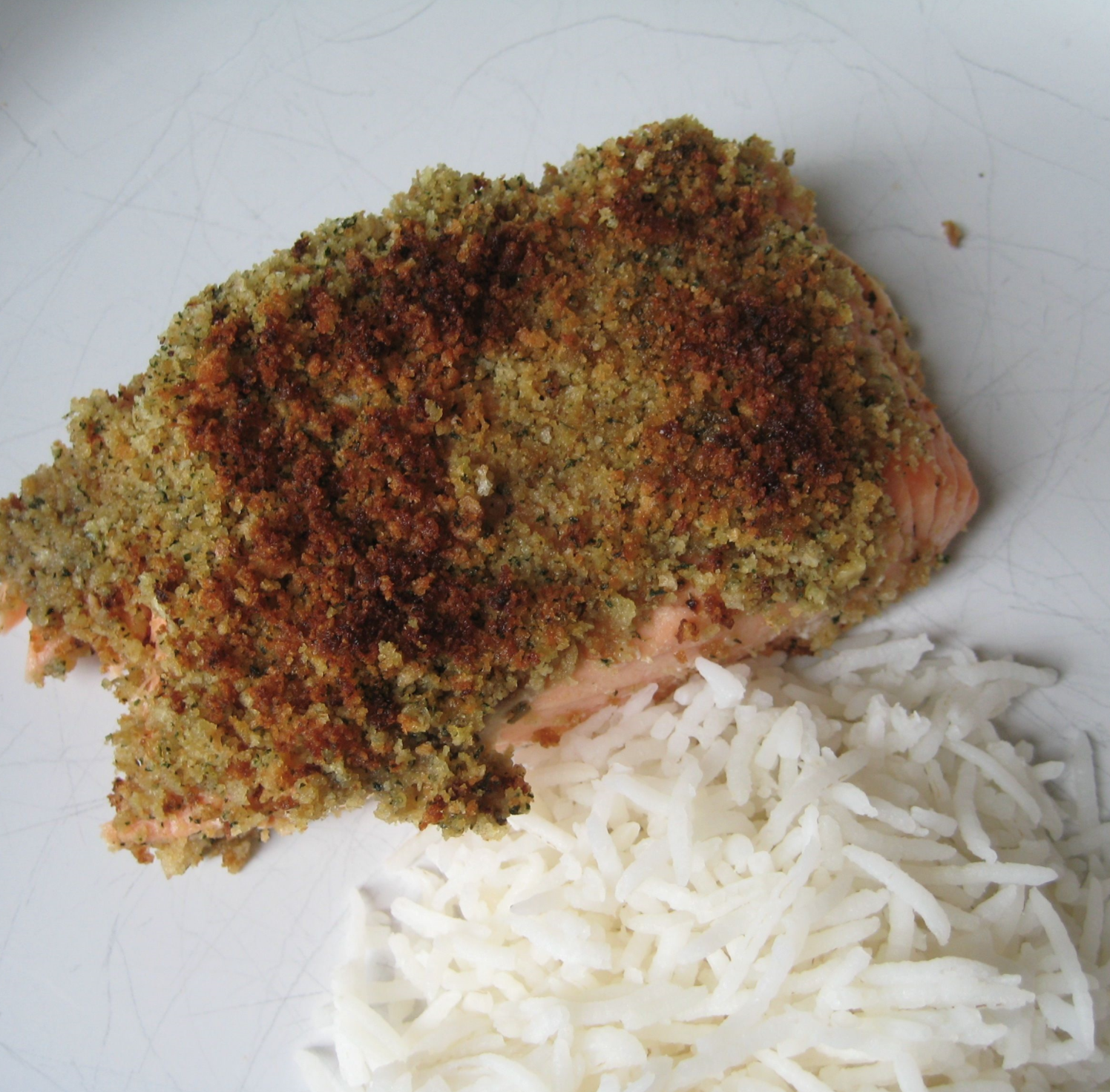 Lemon and Mint Crusted Salmon
