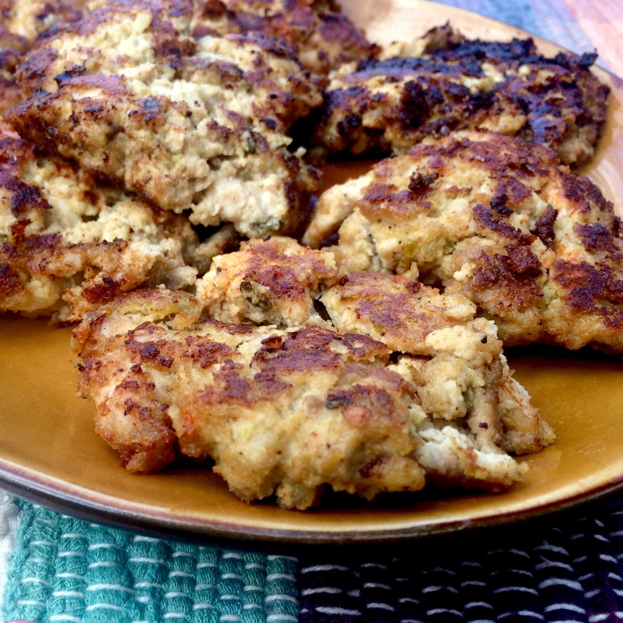 Spicy Chile Chicken Fritters