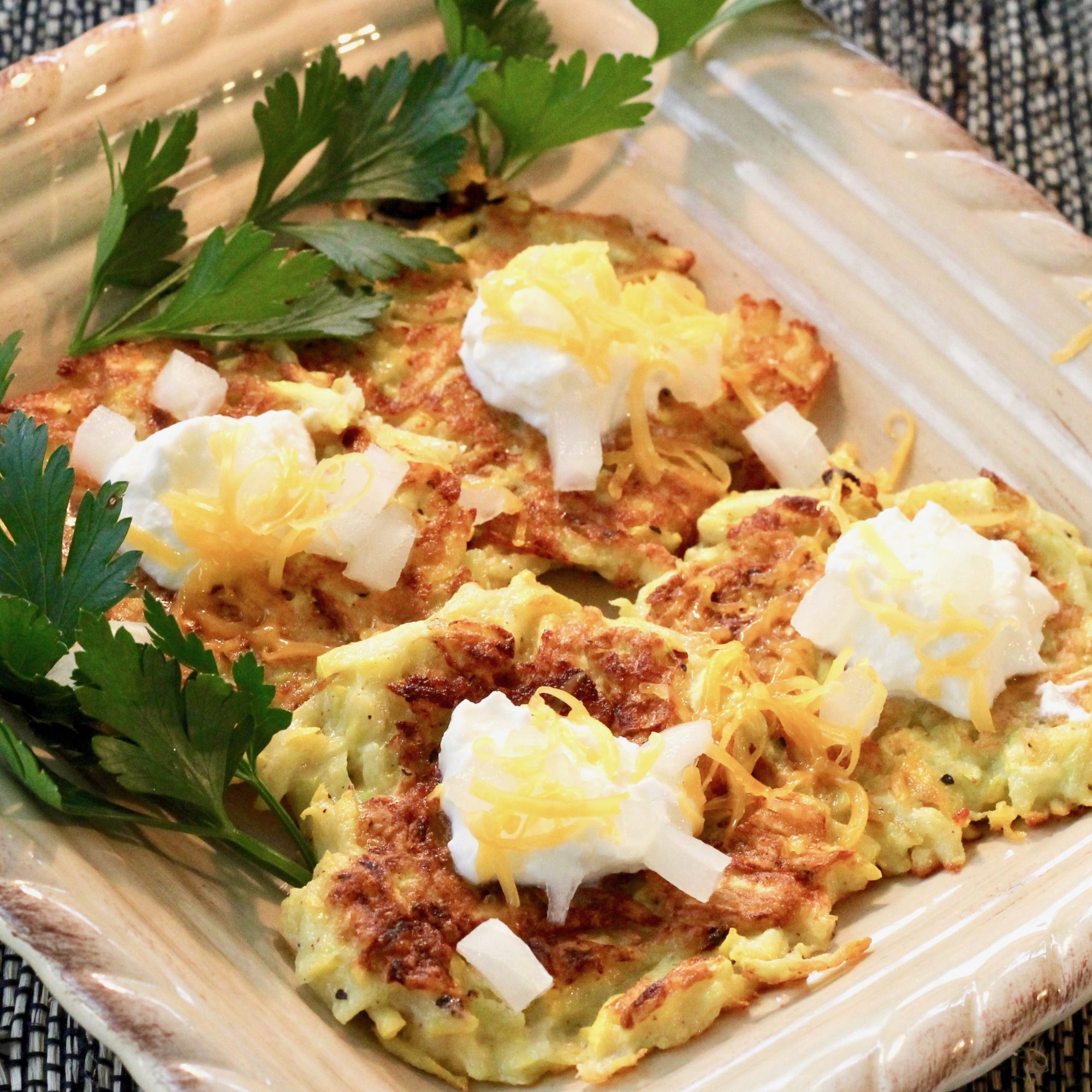 """""""This is a fast and easy snack or lunch idea,"""" Janet Shytle says. """"They are so crispy that they're addictive. This is a great way to use the abundance of squash at the end of the season. There are so many vitamins in this, but the kids will only know how good they are."""""""
