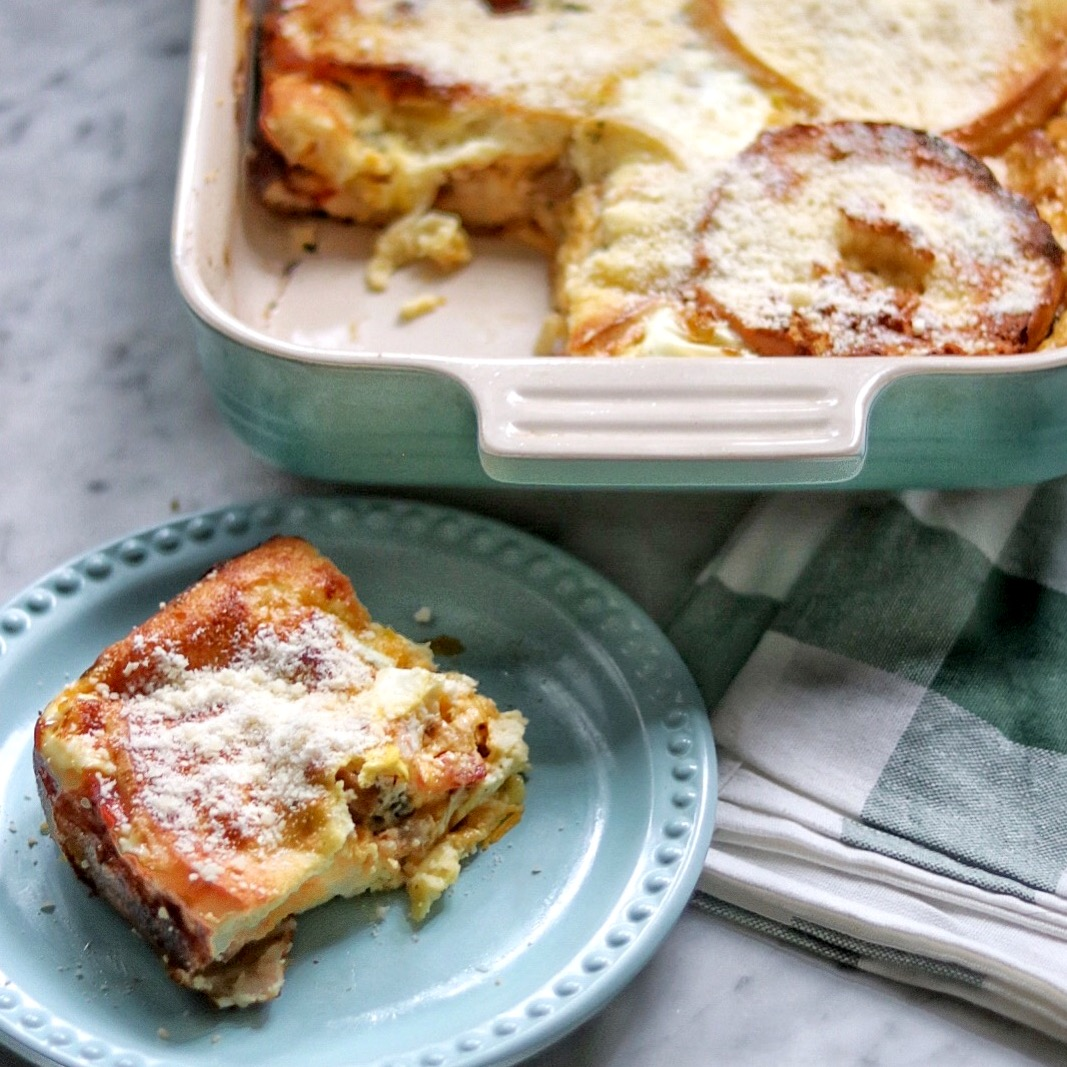 Bagel and Cheese Bake