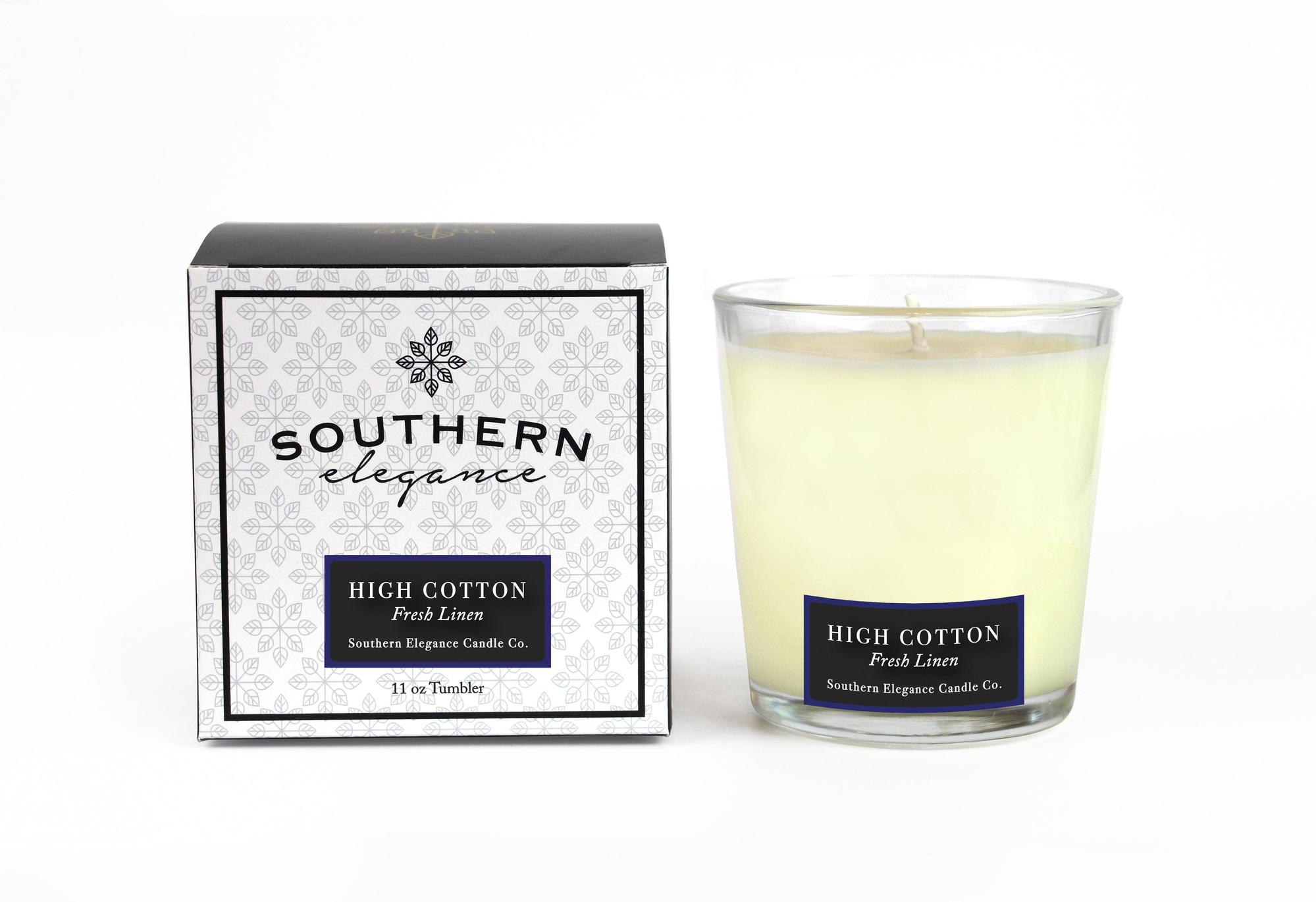 Southern Elegance Candle Co. High Cotton Tumbler Candle
