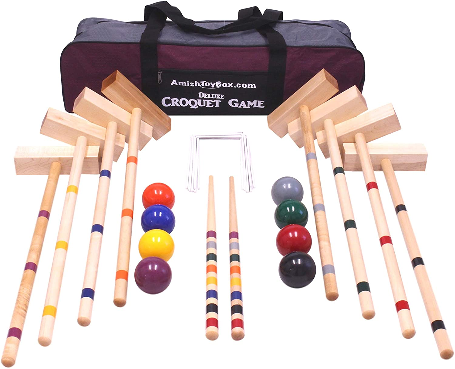 Family Traditions 8 Player Wooden Croquet Set