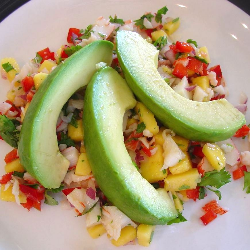 Crab and Avocado Salad with Fruit Salsa