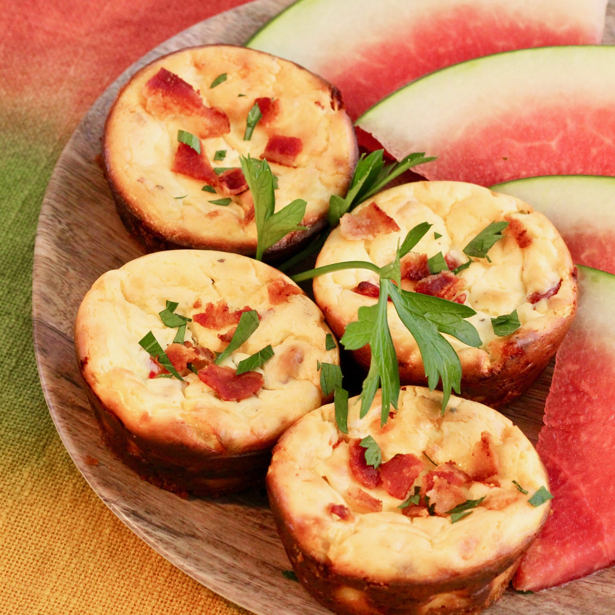 Savory Breakfast Mini Cheesecakes