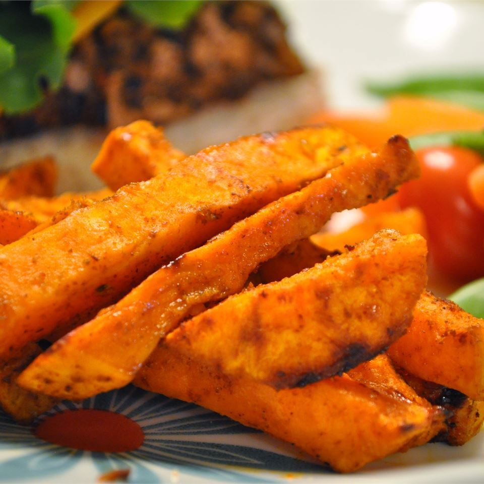 Spicy Baked Sweet Potato Fries