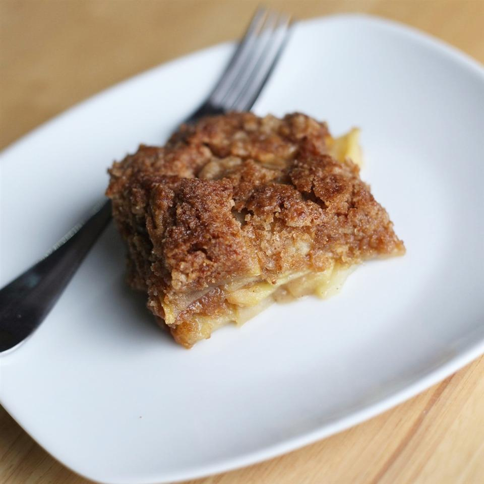 Apple Cobbler Crumble on a white plate